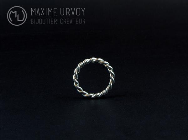 Bague argent torsadée parfaite - Maxime Urvoy