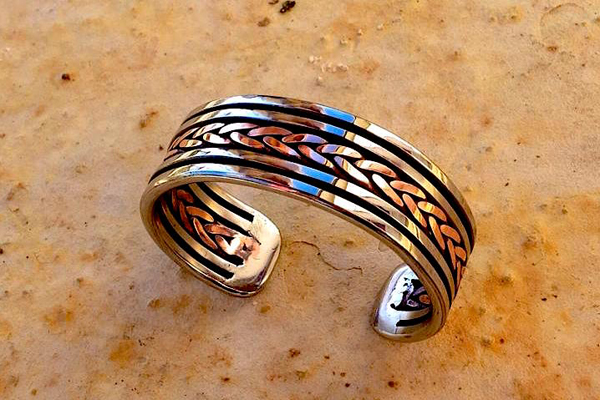 Bracelet inox et cuivre