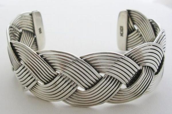 Bracelet tresse en argent