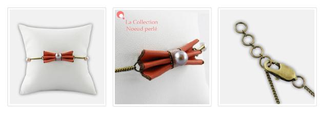 Bijoux cuir et perle de culture