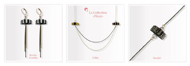 Boucle d'oreilles et collier perle de culture et cuir