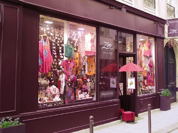 Façade boutique Zor Paris